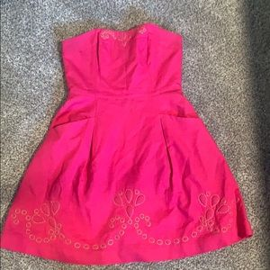 Strapless Pink Lilly Dress
